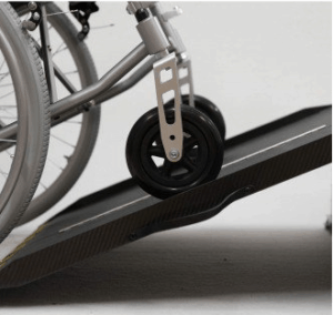 Portable ramp for a wheelchair at home