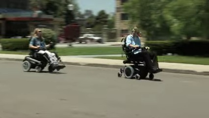 Curb capable, powered wheelchairs
